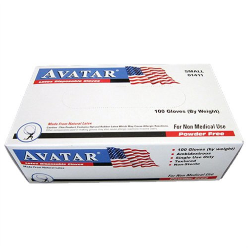 AVATAR Gloves | Latex Disposable Gloves | 100 Gloves/Box | Small (3 Boxes)