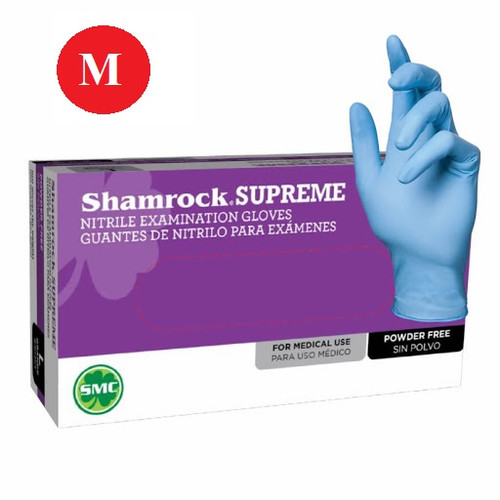 SHAMROCK  SUPREME Gloves | Latex Industrial Powder Free Gloves (100 Gloves/Box) | Medium (3 boxes)