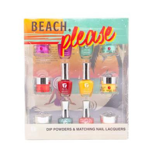 Revel Dip Powder & Matching Nail Lacquers | Beach, Please Collection