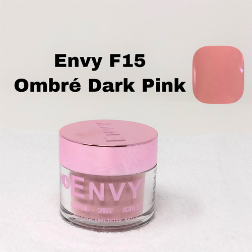 Envy Dipping - Ombre - Acrylic Powder | F15 Ombre Dark Pink