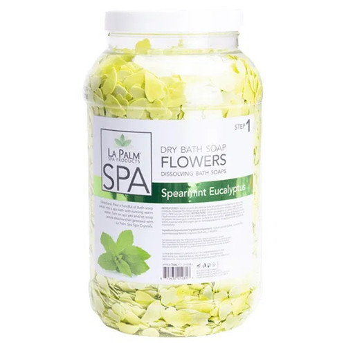 La Palm Dry Bath Soap Flowers | Spearmint Eucalyptus (1 Gallon)
