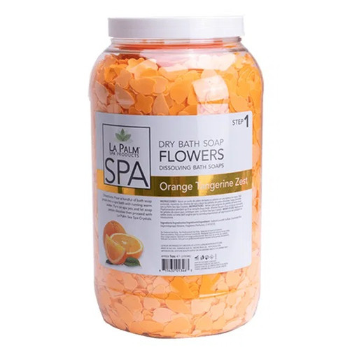 La Palm Dry Bath Soap Flowers | Orange Tangerine Zest (1 Gallon)
