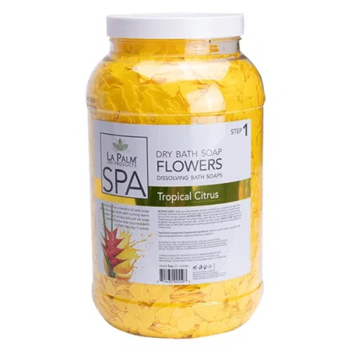 La Palm Dry Bath Soap Flowers | Tropical Citurs (1 Gallon)