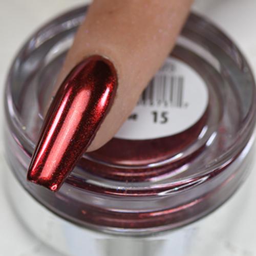 Cre8tion Chrome Nail Art Effect 1g | 15 Dark Red Chrome