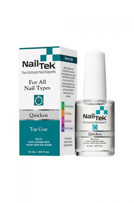 Nail Tek Quicken Top Coat 0.5 oz