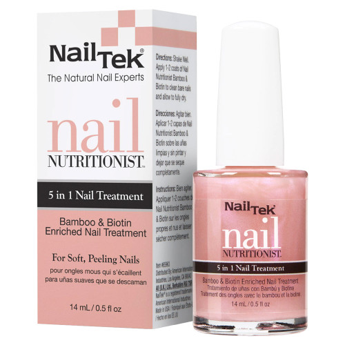 Nail Tek Nail Nutritionist 5 in 1 Nail Treatment with Bamboo & Biotin 0.5 oz