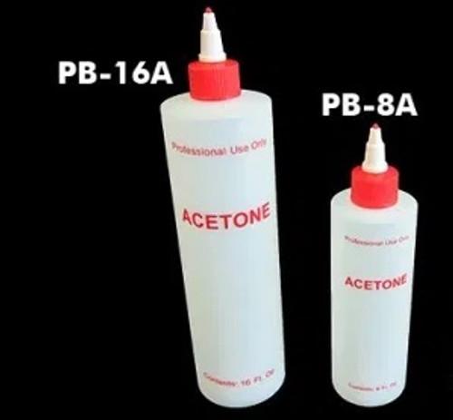 Acetone Plastic Bottles with Lids | 8-oz