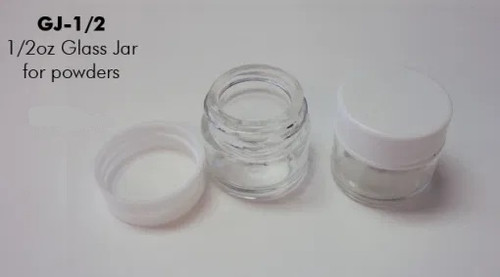 Glass Jars with White Plastic Lids | 0.5-oz