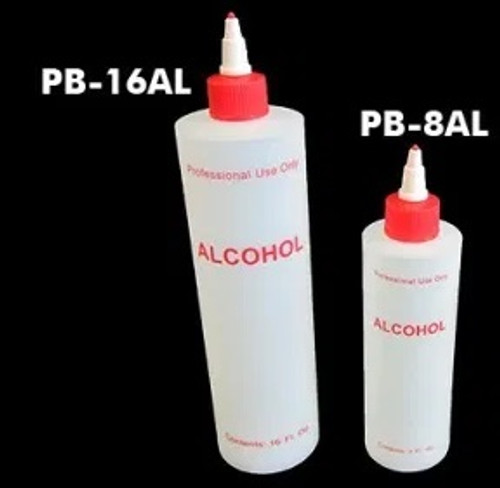 Alcohol Plastic Bottles with Lids | 8-oz