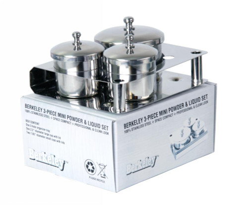 Berkeley 3-Piece Stainless Steel Powder & Liquid Set