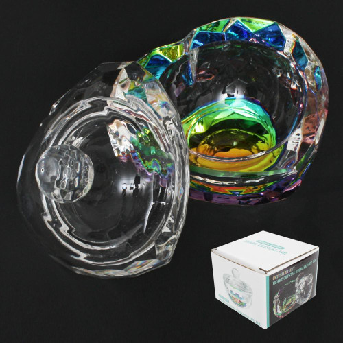 Berkeley Crystal Beauty Premium Large & Heavy Powder Jar | Heart Shaped