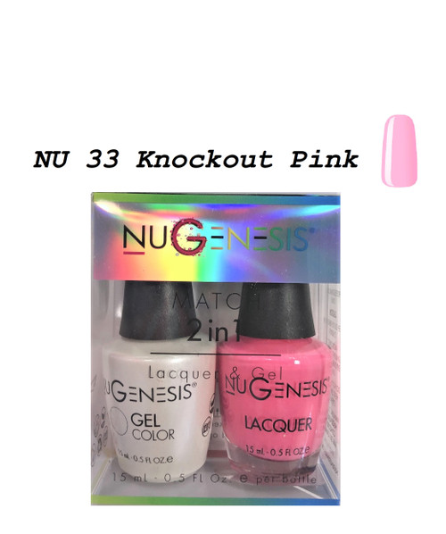 NUGENESIS Gel & Lacquer Combo | NU33 Knockout Pink
