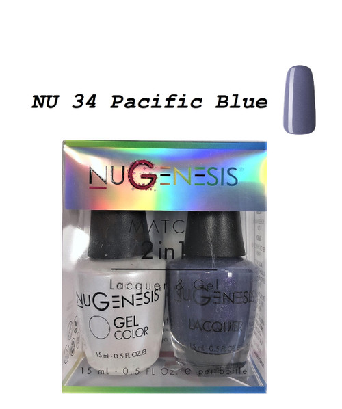 NUGENESIS Gel & Lacquer Combo | NU34 Pacific Blue