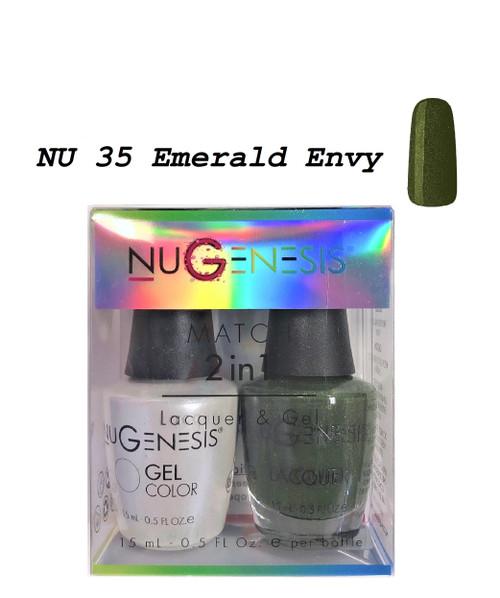 NUGENESIS Gel & Lacquer Combo | NU35 Emerald Envy