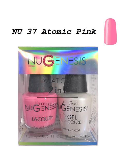 NUGENESIS Gel & Lacquer Combo | NU37 Atomic Pink