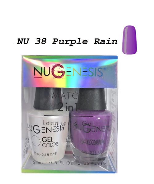 NUGENESIS Gel & Lacquer Combo | NU38 Purple Rain