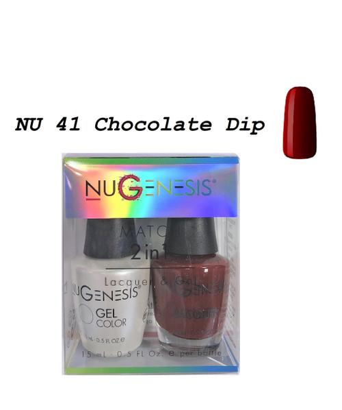 NUGENESIS Gel & Lacquer Combo | NU41 Chocolate Dip