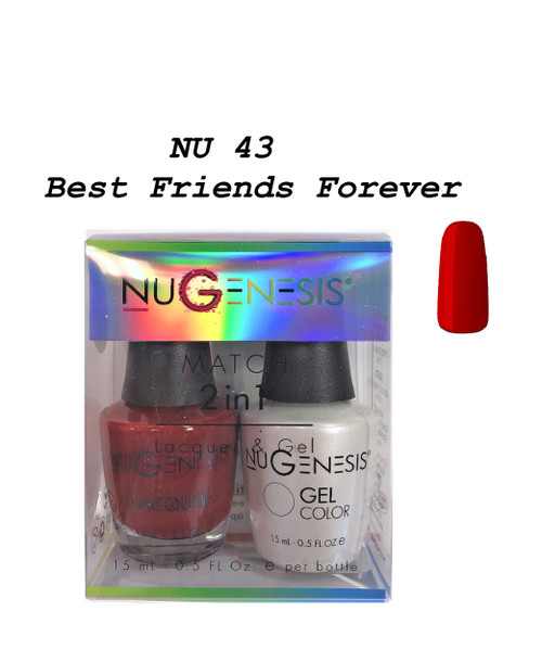 NUGENESIS Gel & Lacquer Combo | NU43 Best Friends Forever