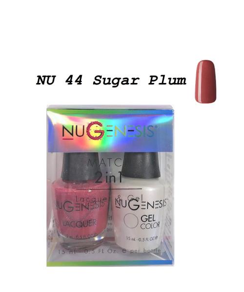 NUGENESIS Gel & Lacquer Combo | NU44 Sugar Plum