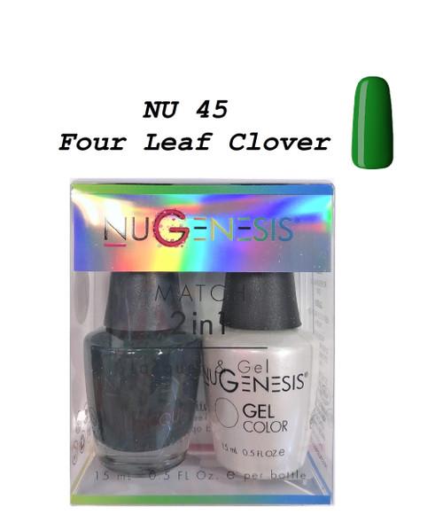 NUGENESIS Gel & Lacquer Combo | NU45 Four Leaf Clover