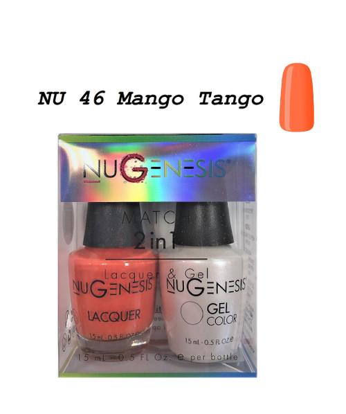 NUGENESIS Gel & Lacquer Combo | NU46 Mango Tango