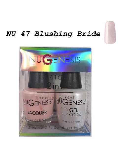 NUGENESIS Gel & Lacquer Combo | NU47 Blushing Ride