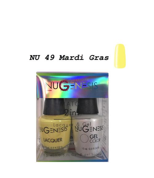 NUGENESIS Gel & Lacquer Combo | NU49 Mardi Gras