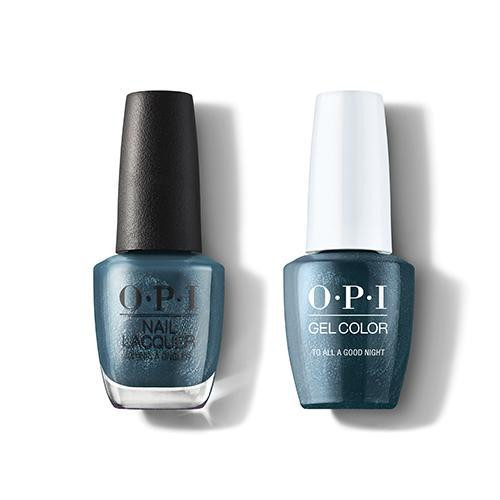 OPI GelColor & Lacquer Combo | To All A Good Night (HRM11)