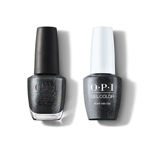 OPI GelColor & Lacquer Combo | Heart And Coal (HRM12)
