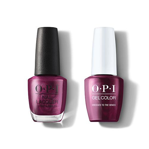 OPI GelColor & Lacquer Combo | Dressed To The Wines (HRM04)