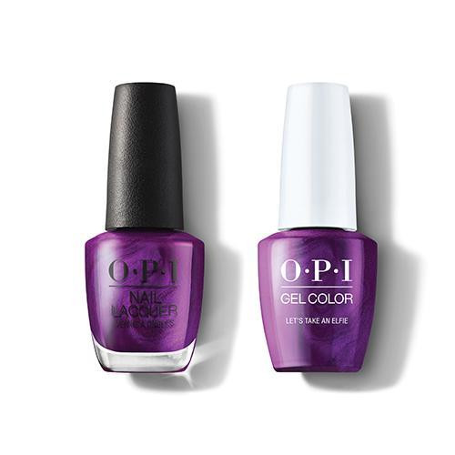 OPI GelColor & Lacquer Combo | Let's Take An Elfie (HRM09)