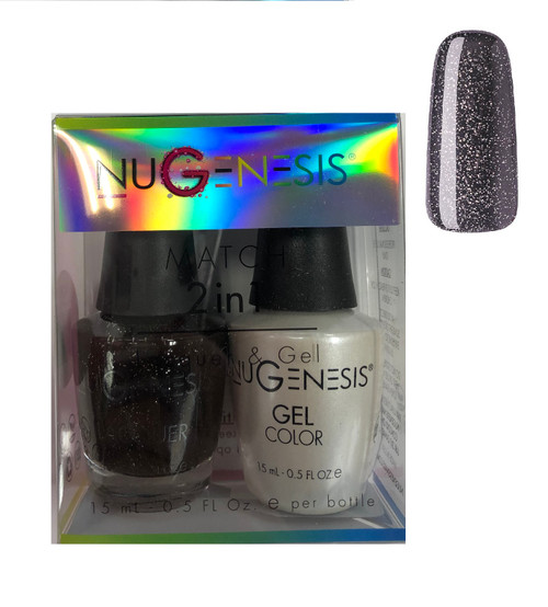 NUGENESIS Gel & Lacquer Combo |NU 87 Stormy Nights