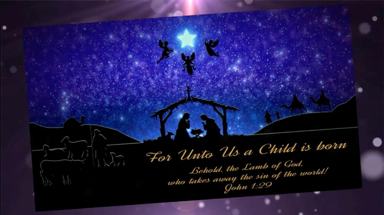 Religious Christmas.Religious Christmas Video Card Standard Branded