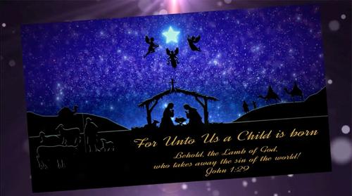 religious christmas video card standard branded