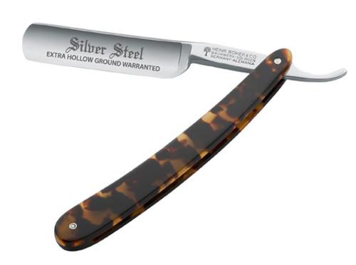 Boker Silver Steel Tortoise Straight Razor 6/8
