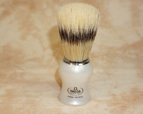 Omega 11774 Pearl White Boar Brush