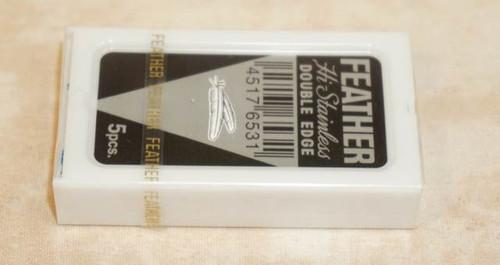 Feather Double Edge Razor Blades 5 blades