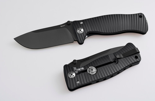 Lion Steel SR1A  Black w/Black Blade