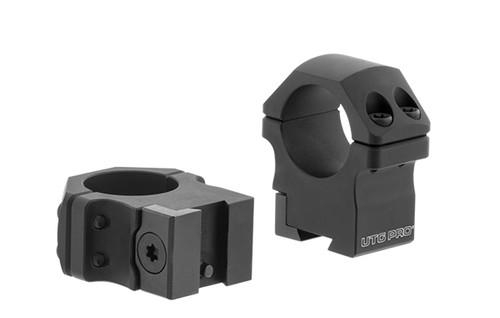 """UTG PRO® 1""""/2PCs Medium Profile P.O.I® Dovetail Rings"""