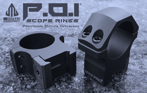UTG PRO 34mm/2PCs Mediam Profile P.O.I Picatinny