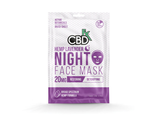 CBDfx Hemp Face Mask - Lavender Night