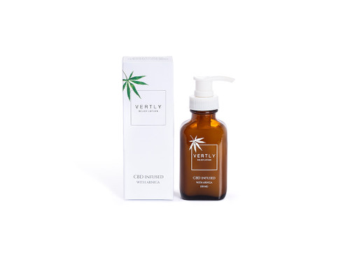 CBD Infused Relief Lotion Bottle and Box - Vertly