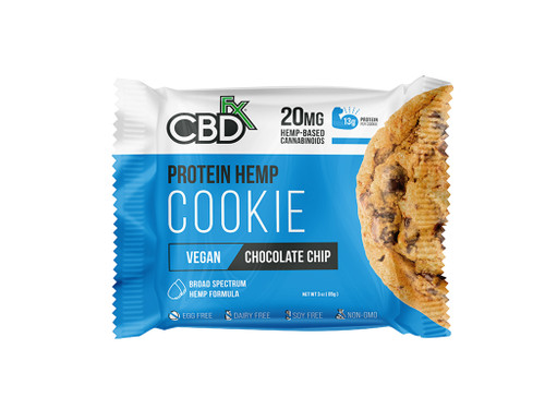 CBDfx Chocolate Chip Protein Cookie Front