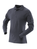 Tru-Spec Men's Long Sleeve Classic 100% Cotton Polo - Navy