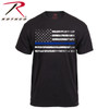 Show your support for your local police with this Thin Blue Line American Flag T-Shirt from Rothco
