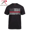 Show your support for your local firefighters with this Thin Red Line American Flag T-Shirt from Rothco