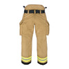 Lakeland Fire Bunker Gear  - B2 Pleated Turnout Pant, back view
