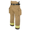 Lakeland Fire Bunker Gear - B2 Pleated Turnout Pant, rotated back view