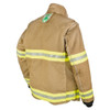 Lakeland Fire Bunker Gear - B2 Pleated Turnout Coat, rotated back view