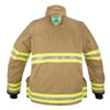 Lakeland Fire Bunker Gear - B2 Pleated Turnout Coat, back view